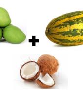 COMBO – 4- Raw Mango (500 gms) +  Vellarika ( 500 gms) + Coconut (1 st)