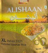 Alishan XL Indian 1121 Parboiled Basmati Rice (5kgs)