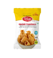 Telugu Foods Ginger Chakrallu (South Indian Fried Snacks) (170 gms)