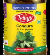 Telugu Foods Gongura Pickle (With Garlic) (300 gms)