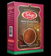 Telugu Foods Nalla Karam Podi With Garlic( Red Chilly Spice Mix)