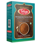 Telugu Foods Avisaginjala Karam Podi with Garlic ( Flax Seeds Spice Mix) (100 gms)