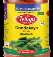Telugu Foods Tindora (Ivy Gourd)  Pickle  (With Garlic) (300 gms)